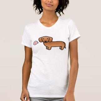 Red  Smooth Coat Dachshund Cartoon Dog T-Shirt