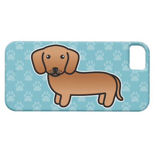 Red Smooth Coat Dachshund iPhone 5 Case