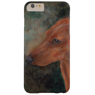 Red smooth mini dachshund barely there iPhone 6 plus case