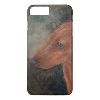 Red smooth mini dachshund iPhone 7 plus case