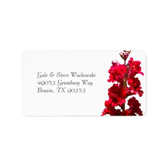 Red Snap Dragon Label