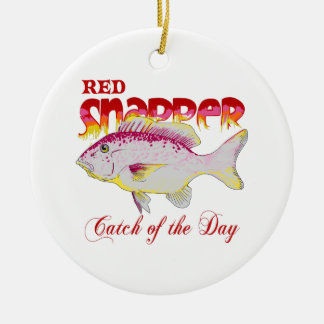 RED SNAPPER CATCH OF THE DAY CERAMIC ORNAMENT