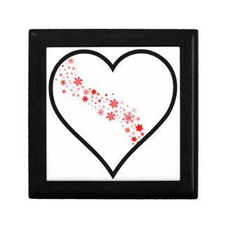 Red Snowflake Heart Gift Box