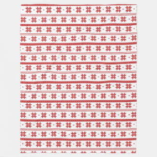 Red Snowflake Holiday Pattern