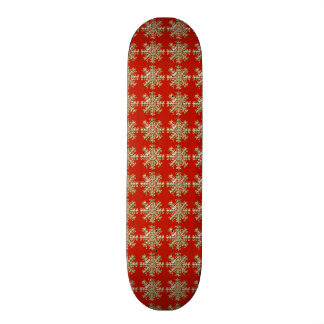Red Snowflake Pattern 19.7 Cm Skateboard Deck