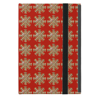 Red Snowflake Pattern Cases For iPad Mini