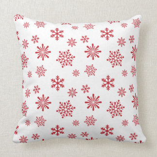 Red snowflake pattern - Christmas gifts Throw Pillow