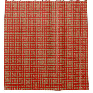 Red Snowflake Pattern Shower Curtain