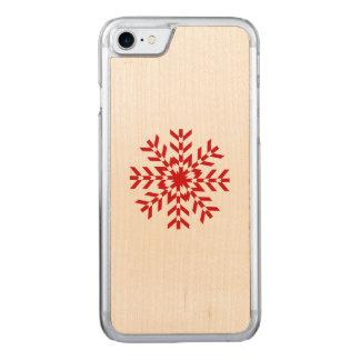 Red Snowflake Winter Wonderland Ski Season Carved iPhone 8/7 Case