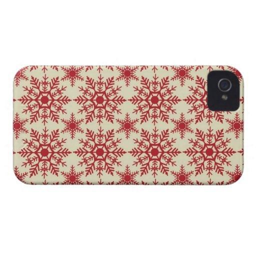 Red Snowflakes BlackBerry Bold Case Mate Covers