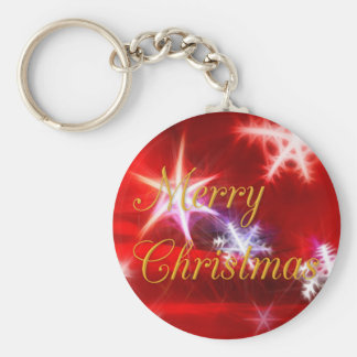 Red Snowflakes Key Chains