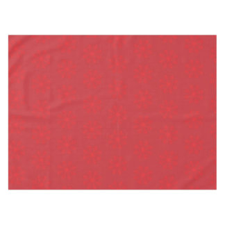 Red Snowflakes on Cranberry Christmas Tablecloth