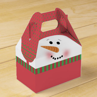Red Snowman Gable Box