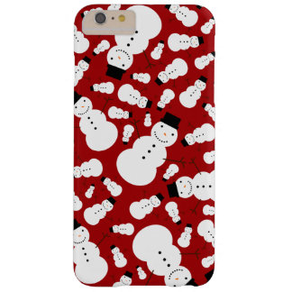 Red snowmen barely there iPhone 6 plus case