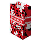 Red Soccer Ball Collage | Personalise Small Gift Bag