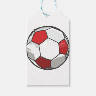 Red Soccer Ball Sketch Gift Tags