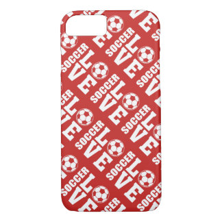 Red Soccer Love Pattern iPhone 8/7 Case