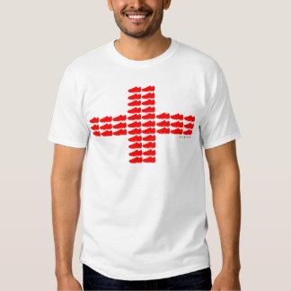 Red Soccer Shoe England Flag T-Shirt 1