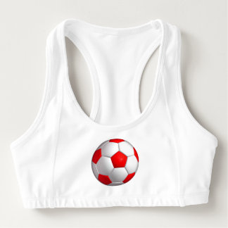 Red Soccer Sports Bra