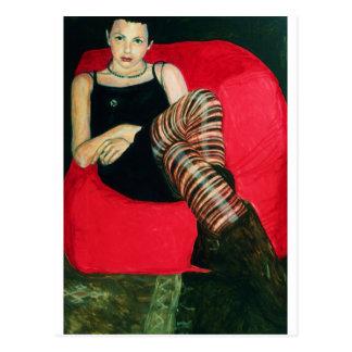Red sofa postcard