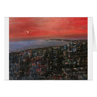 Red Solar Eclipse Card