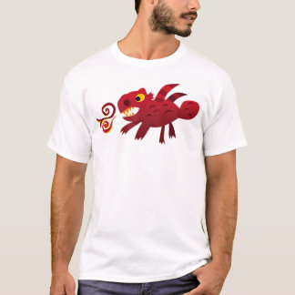Red Solid Dragon (Adult) T-Shirt