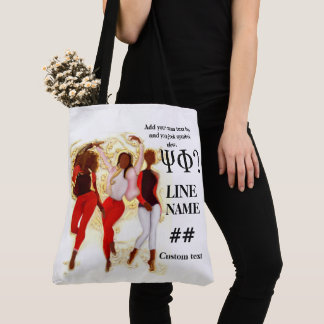 Red Sorority Black Art Tote Bag