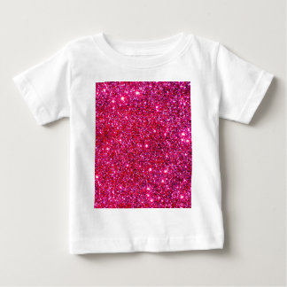 Red Sparkle Glittery Holiday Magic Party Baby T-Shirt