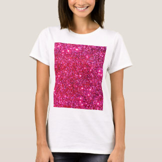 Red Sparkle Glittery Holiday Magic Party T-Shirt