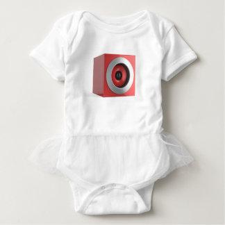 Red speaker baby bodysuit