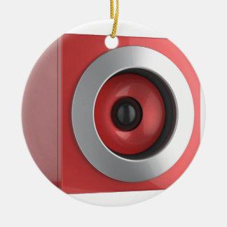 Red speaker ceramic ornament