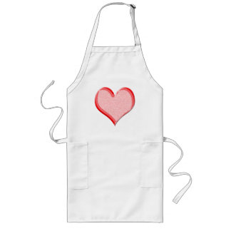 Red Speckled Valentine Heart Shape Long Apron