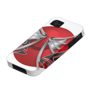 Red Sphere Abstract Case-Mate iPhone 4 Covers