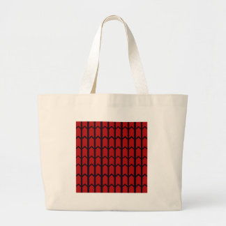 Red Spider Web Large Tote Bag