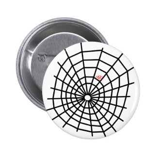 Red Spiders Web! 6 Cm Round Badge