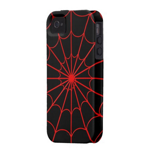 Red Spiders' Web iPhone 4 Case-Mate Tough