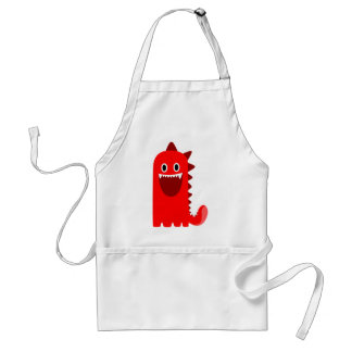 Red Spikey Monster Standard Apron