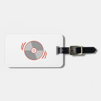 Red Spinning CD Tag For Luggage