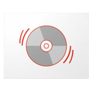 Red Spinning CD Scratch Pad