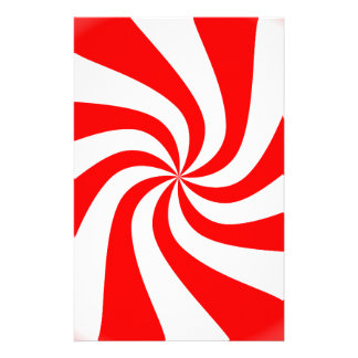 Red spiral candy pattern design stationery