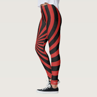 Red Spiral Leggings