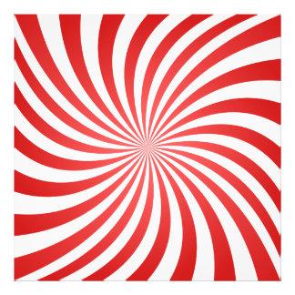 Red spiral art photo