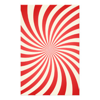 Red spiral personalized stationery