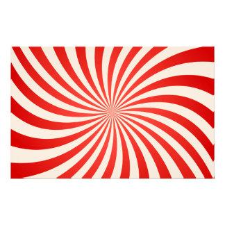 Red spiral custom stationery