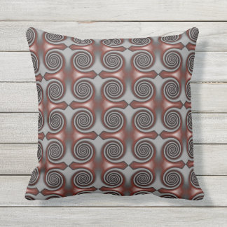 Red Spirals Cushion