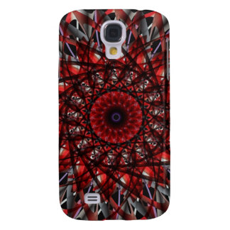 Red Spirograph Samsung Galaxy S4 Cover