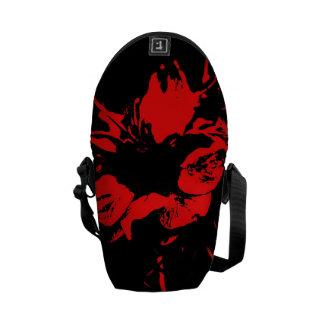 Red Splash Flower -Mini Messenger Bag