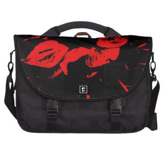 Red Splash on Black - Rickshaw Commuter Bag