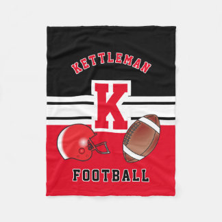 Red Sport Letter - Football Fleece Blanket
