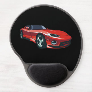 Red Sports Car Gel Mouse Pad
